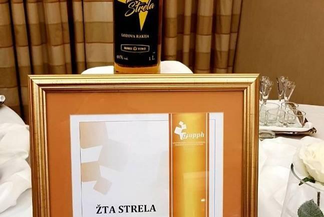 """Ракијата Ж'та Стрела ја освои најпрестижната награда """"Шампион на квалитет"""" на ISCRO 2018"""